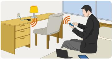 ホテル内の有線LANを簡単に無線で接続するWi-Fiルータ