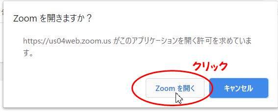 zoomを開く