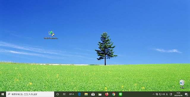 windows10のディスクトップ画面